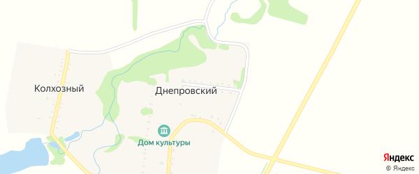 Короткая улица на карте Днепровского хутора Адыгеи с номерами домов