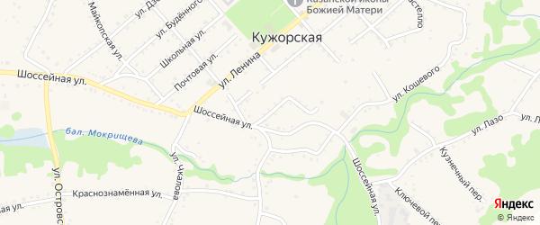 Улица Карла Маркса на карте Кужорской станицы Адыгеи с номерами домов