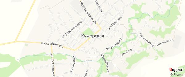 Карта Кужорской станицы в Адыгее с улицами и номерами домов