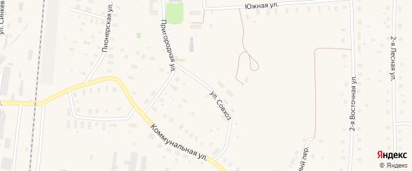 Улица Совхоз на карте поселка Плесецка Архангельской области с номерами домов