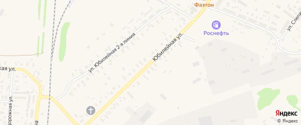 Юбилейная улица на карте поселка Плесецка Архангельской области с номерами домов