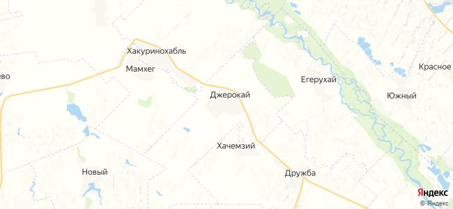 Джерокай на карте