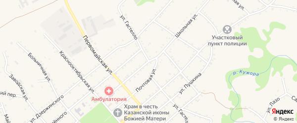 Улица Гастелло на карте Кужорской станицы Адыгеи с номерами домов