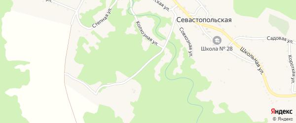 Степная улица на карте Севастопольской станицы Адыгеи с номерами домов