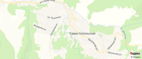 Карта Севастопольской станицы в Адыгее с улицами и номерами домов