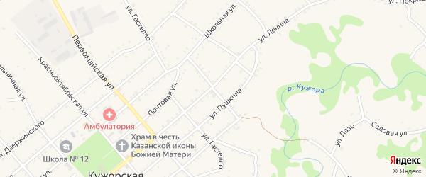 Улица Толстого на карте Кужорской станицы Адыгеи с номерами домов