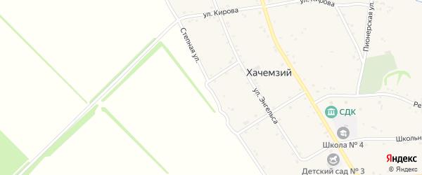 Степная улица на карте Хачемзия аула Адыгеи с номерами домов