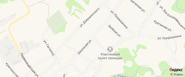 Улица Матросова на карте Кужорской станицы Адыгеи с номерами домов