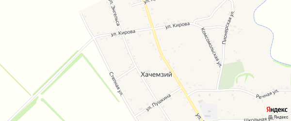 Улица Лермонтова на карте Хачемзия аула Адыгеи с номерами домов