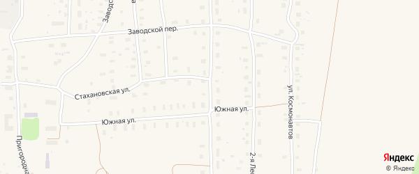 Восточная улица на карте поселка Плесецка Архангельской области с номерами домов
