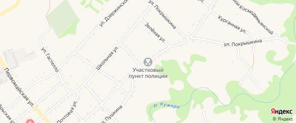 Улица Ленина на карте Кужорской станицы Адыгеи с номерами домов