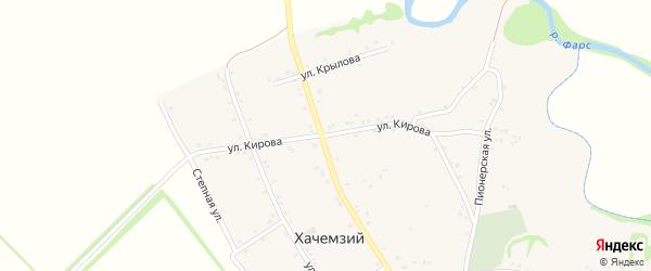 Улица Кирова на карте Хачемзия аула Адыгеи с номерами домов