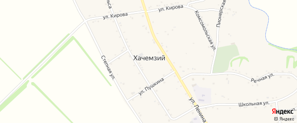Дорога А/Д Подъезд к а. Хачемзий на карте Хачемзия аула Адыгеи с номерами домов