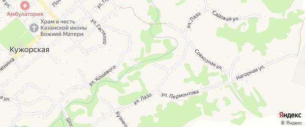 Заливской переулок на карте Кужорской станицы Адыгеи с номерами домов