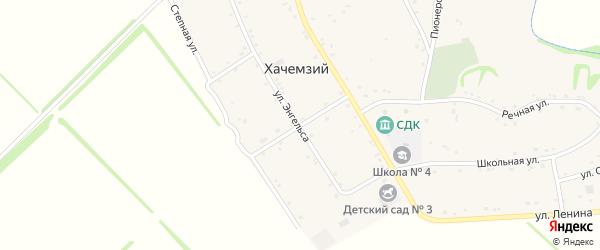 Улица Пушкина на карте Хачемзия аула Адыгеи с номерами домов