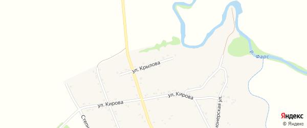 Улица Крылова на карте Хачемзия аула Адыгеи с номерами домов