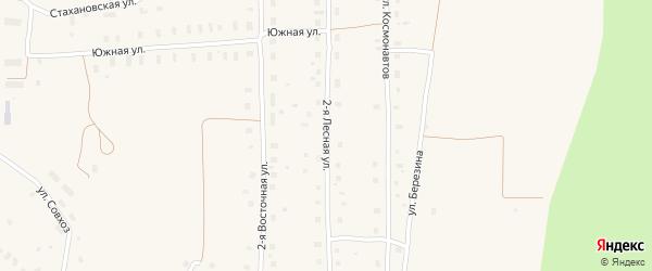 Лесная 2-я улица на карте поселка Плесецка Архангельской области с номерами домов