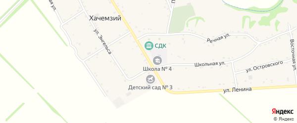 Улица Ленина на карте Хачемзия аула Адыгеи с номерами домов
