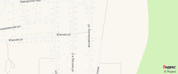 Улица Космонавтов на карте поселка Плесецка Архангельской области с номерами домов