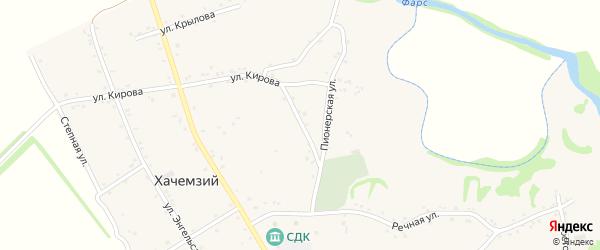 Комсомольская улица на карте Хачемзия аула с номерами домов