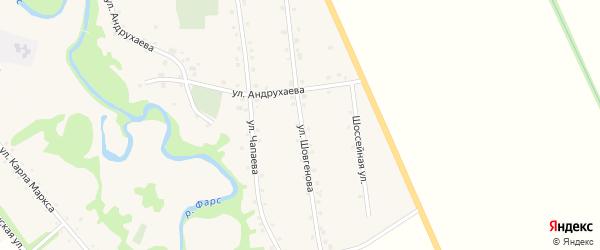 Улица Шовгенова на карте аула Джерокая Адыгеи с номерами домов