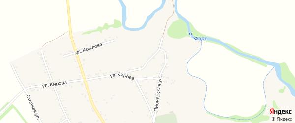 Интернациональный переулок на карте Хачемзия аула Адыгеи с номерами домов