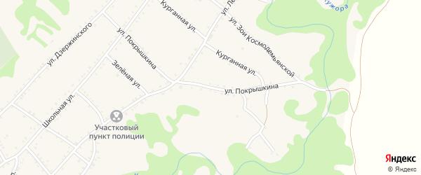 Улица Покрышкина на карте Кужорской станицы Адыгеи с номерами домов