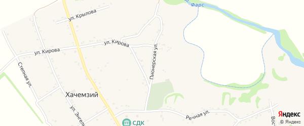 Пионерская улица на карте Хачемзия аула Адыгеи с номерами домов