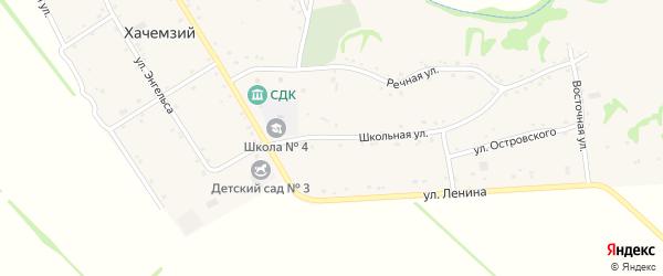 Школьная улица на карте Хачемзия аула с номерами домов