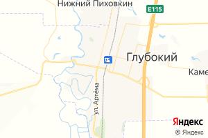 Карта пос. Глубокий Ростовская область