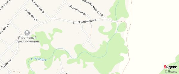 Угловой переулок на карте Кужорской станицы Адыгеи с номерами домов