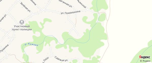 Улица Фрунзе на карте Кужорской станицы Адыгеи с номерами домов