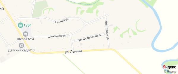 Улица Островского на карте Хачемзия аула Адыгеи с номерами домов