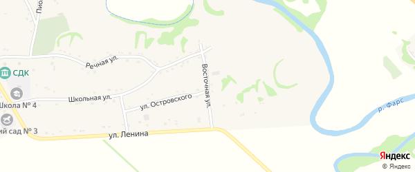 Восточная улица на карте Хачемзия аула Адыгеи с номерами домов
