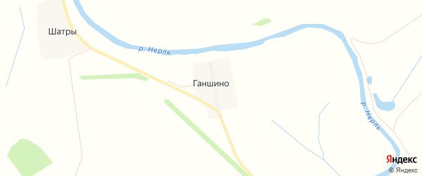 Карта деревни Ганшино в Ивановской области с улицами и номерами домов