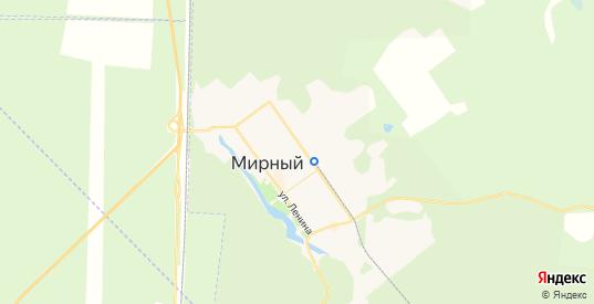 Карта Мирного с улицами и домами подробная. Показать со спутника номера домов онлайн