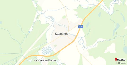 Карта Кадникова с улицами и домами подробная. Показать со спутника номера домов онлайн