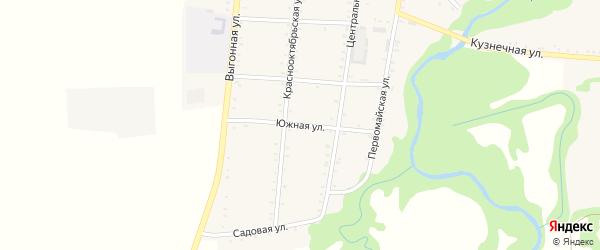 Южная улица на карте Сергиевского села Адыгеи с номерами домов
