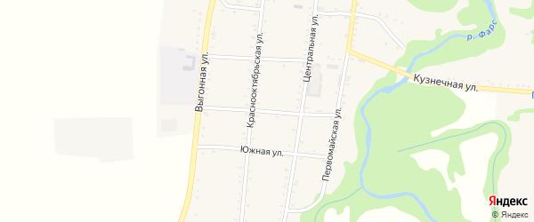Курганная улица на карте Сергиевского села Адыгеи с номерами домов