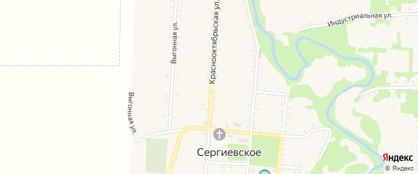 Кубанская улица на карте Сергиевского села Адыгеи с номерами домов