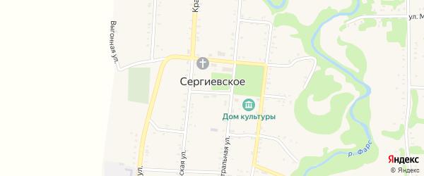 Зеленая улица на карте Сергиевского села Адыгеи с номерами домов