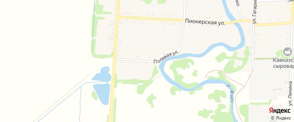 Полевая улица на карте Дондуковской станицы Адыгеи с номерами домов