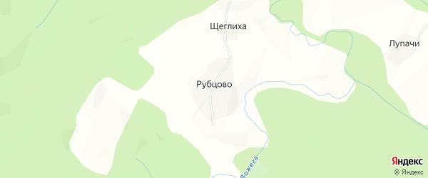 Карта деревни Рубцово в Вологодской области с улицами и номерами домов