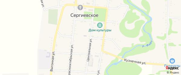 Больничная улица на карте Сергиевского села Адыгеи с номерами домов