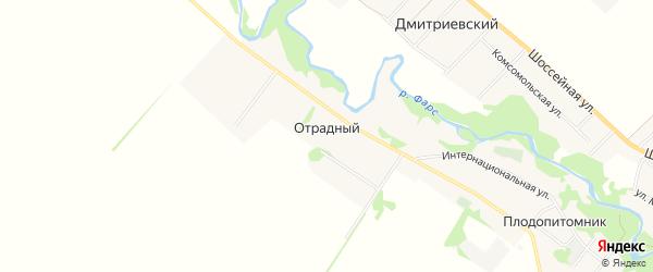 Карта Отрадного хутора в Адыгее с улицами и номерами домов