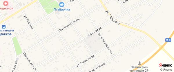 Красная улица на карте Кадникова с номерами домов