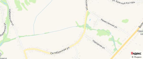 Лесная улица на карте села Воронцовки Воронежской области с номерами домов