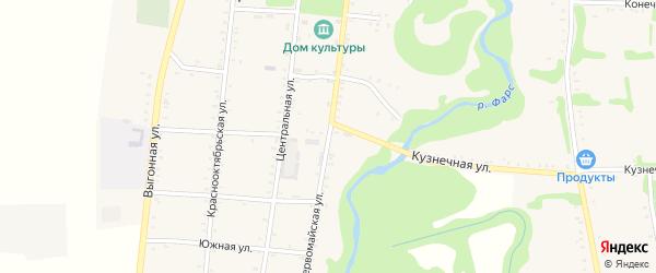 Первомайская улица на карте Сергиевского села Адыгеи с номерами домов