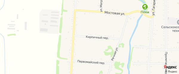 Кирпичный переулок на карте Дондуковской станицы с номерами домов