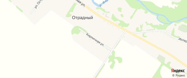 Кирпичная улица на карте Отрадного хутора Адыгеи с номерами домов